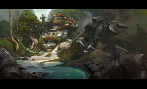 "delicious-media:  Concept art for the MMO FPS/RPG Hybrid Firefall. One of my ""to look out for"" games for 2012. Go check it out! Its going to be free!"