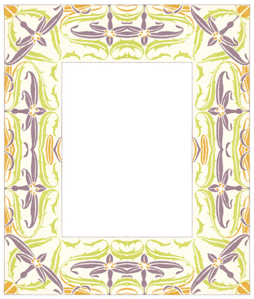 purple, green and orange frame design