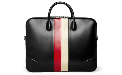GUCCI Striped Soft Leather Briefcase ($1,980)