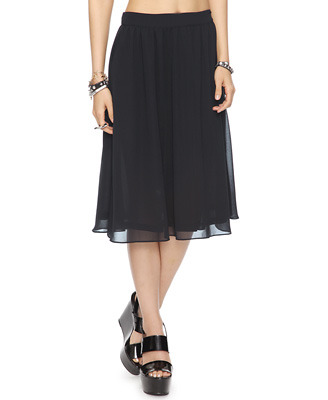 What a nice classic skirt! ($12.50) (via Basic Midi-Length Skirt | FOREVER21 - 2000040971)