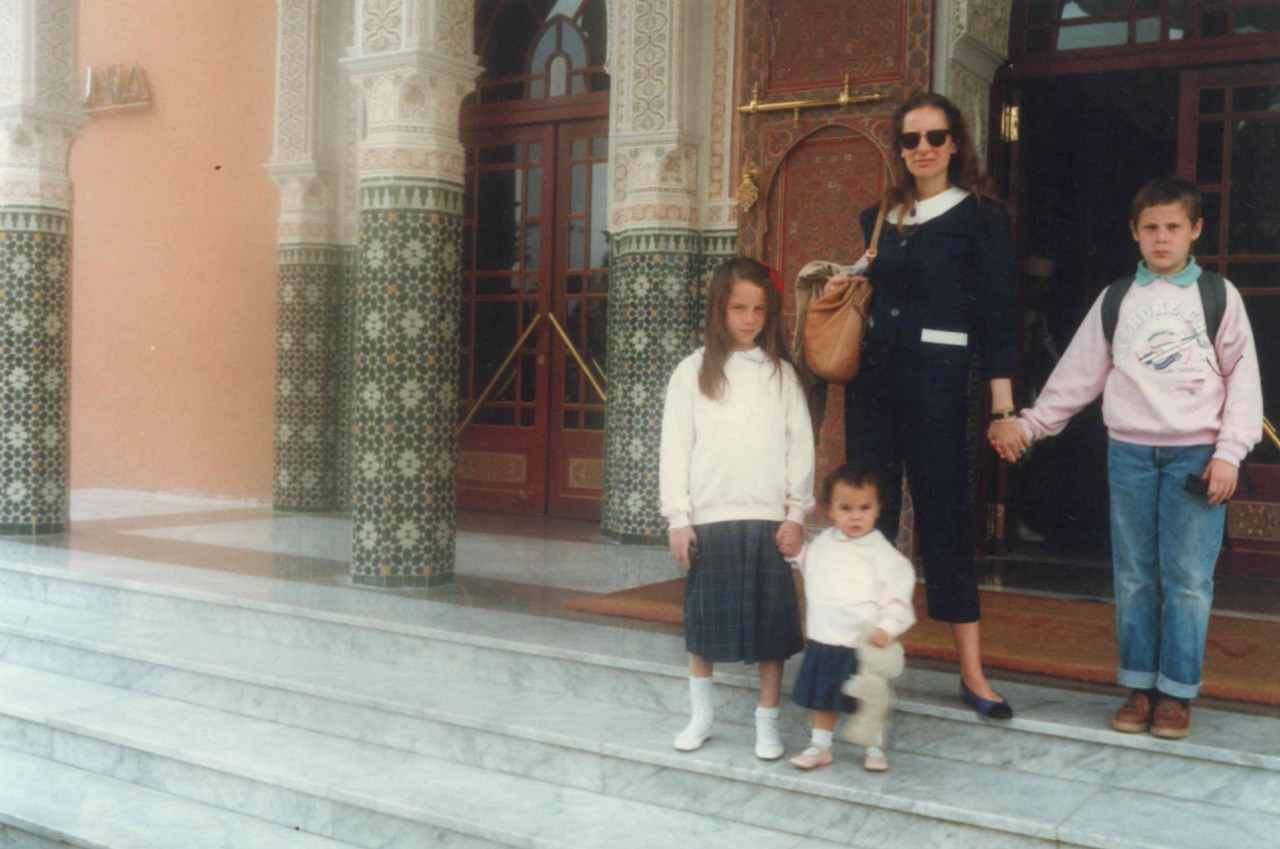 Le-Tan family in Morocco, 1987.