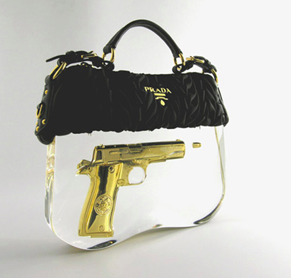 Lady Killer! Crazy hand-bag by Ted Noten