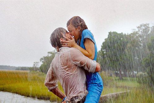 Let me kiss you hard in the pouring rain.