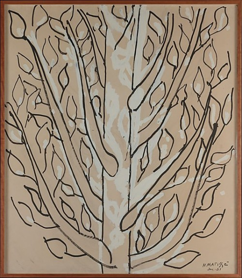 gladsdotter:  Tree (ink, gouache, and charcoal on paper mounted to canvas, 1951) – Henri Matisse