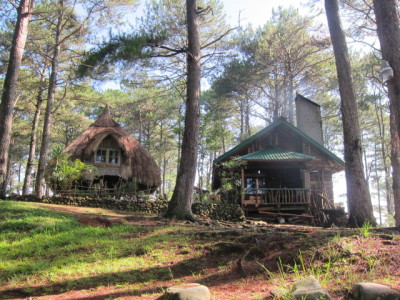 The house where we stayed in Sagada. It was almost at the peak of the mountain! A real cabin in the woods :D