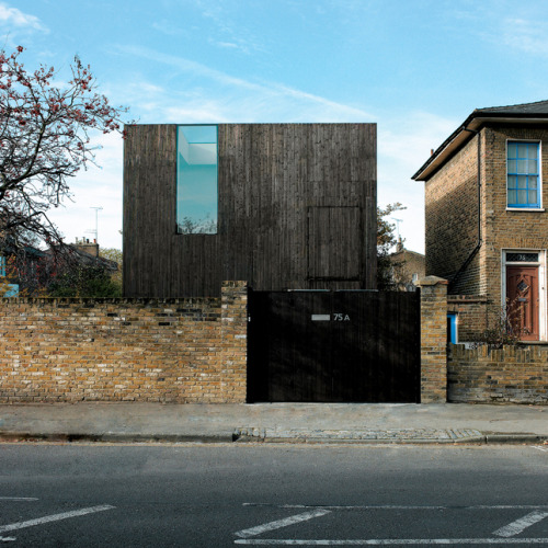 Sunken House by David Adjaye The proximity of neighbouring properties results in windows having to be positioned to avoid overlooking.