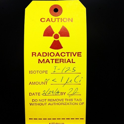 Nothing like a little #radiation warning in the morning. #Caution #radioactive #material (Taken with instagram)