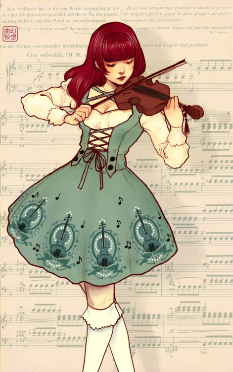 I still think I play like a broken record on my violin but this dress is gorgeous! If only I can replicate it…