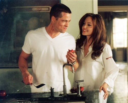 bradpitt-eatingthings:  Mr and Mrs Smith  Well done.