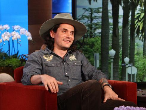 "John Mayer: 'I can't sing, so I'm writing' John Mayer, sporting long hair and a big hat, chats with Ellen DeGeneres on her show today, explaining why he took a break for the last two years. ""I just sort of lost my head for a little while,"" he says. ""I did some kind of dumb interviews and that woke me up."" Was he referring to his 2010 Playboy interview (in which he used the n-word)? Replies Mayer, ""Oh yeah, I don't even remember having a Rolling Stone cover. It was a very strange time and it sort of rocketed me into adulthood. It was a violent crash into being an adult. For a couple of years it was just figuring it all out and I'm glad I actually stayed out of the spotlight. Because I think back then I would of said, give me two weeks or like let me get out and do Ellen and let me explain myself. It was like, 'No, idiot.' Go away be 33 and 34 instead of 28 for the fourth year."" He moved to Montana, which is where he's living now as he continues to recover from vocal surgery. ""I can't sing, so I'm writing,"" he tells Ellen, explaining, ""It's a thing in my throat. It's not a health concern whatsoever, but it has taken me out of singing. Tried to beat it the first time and couldn't. What they actually do is they cut this thing out of your throat and then they inject your vocal cords with Botox which freezes your vocal cords so that this thing can heal without smacking up against the other side. I just need more Botox next time. So I got to do it all over again get more Botox which kind of paralyzes for vocal cord for longer. I'm very happy to be a writer, really lucky to be a writer."""