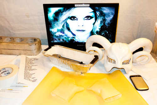 terrysdiary:  Gaga quick change room backstage.