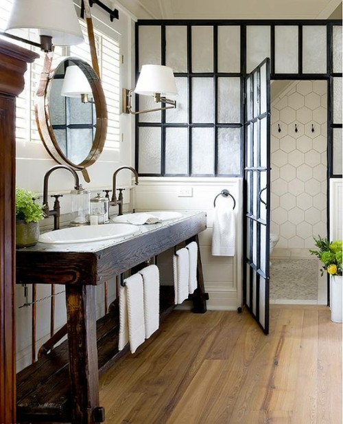 icanlivewiththat:  Absolutely lovely bathroom