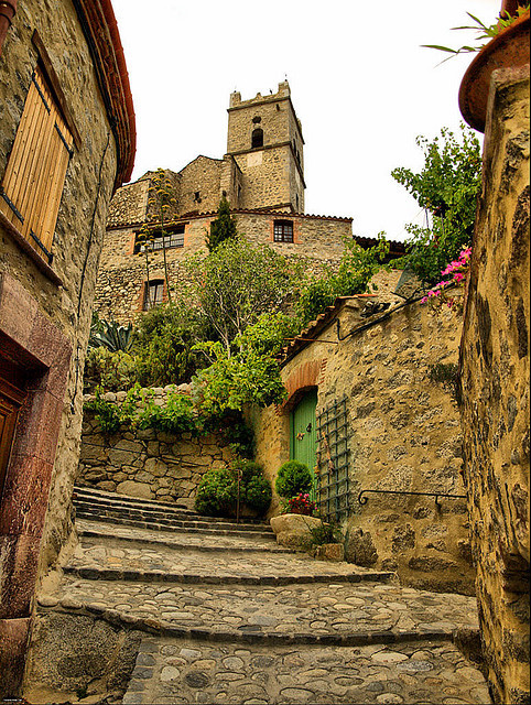 bluepueblo:  Medieval Village, Eus, France photo by jordi