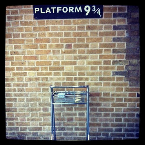Almost took a detour to Hogwart's.  (Taken with Instagram at Platform 9 ¾)