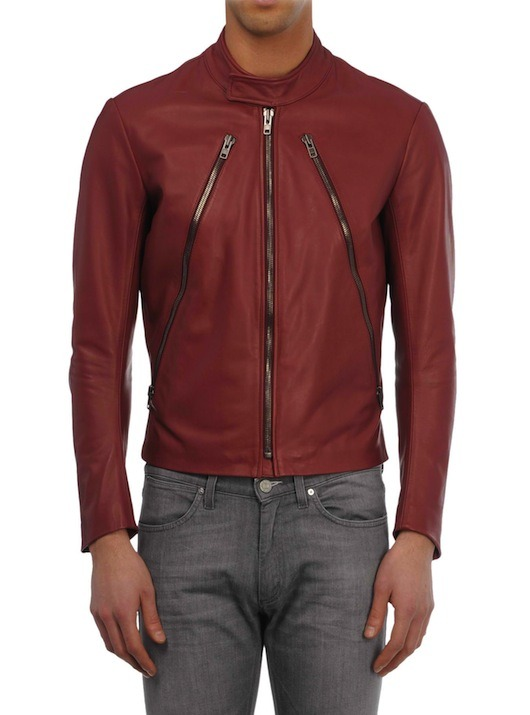 Maison Martin Margiela | Diagonal Zip Leather Biker Jacket