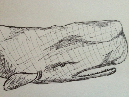 Sometimes, I get bored of drawing space. So I draw whales.
