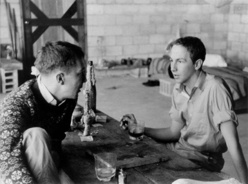 Rachel Rosenthal, Robert Rauschenberg in Conversation with Jasper Johns, 1954 Happy Birthday, Jasper.