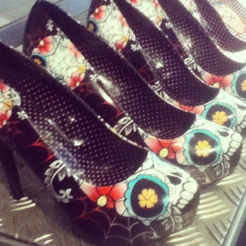 These are great too. #sugarskull #shoes #pumps #heels (Taken with instagram)