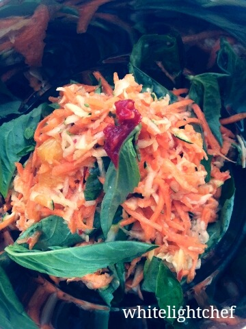 Thai, Carrot, Green Papaya, Basil, Coconut Milk & Young Ginger Slaw. #Whitelighthawkerstyle #deeplove