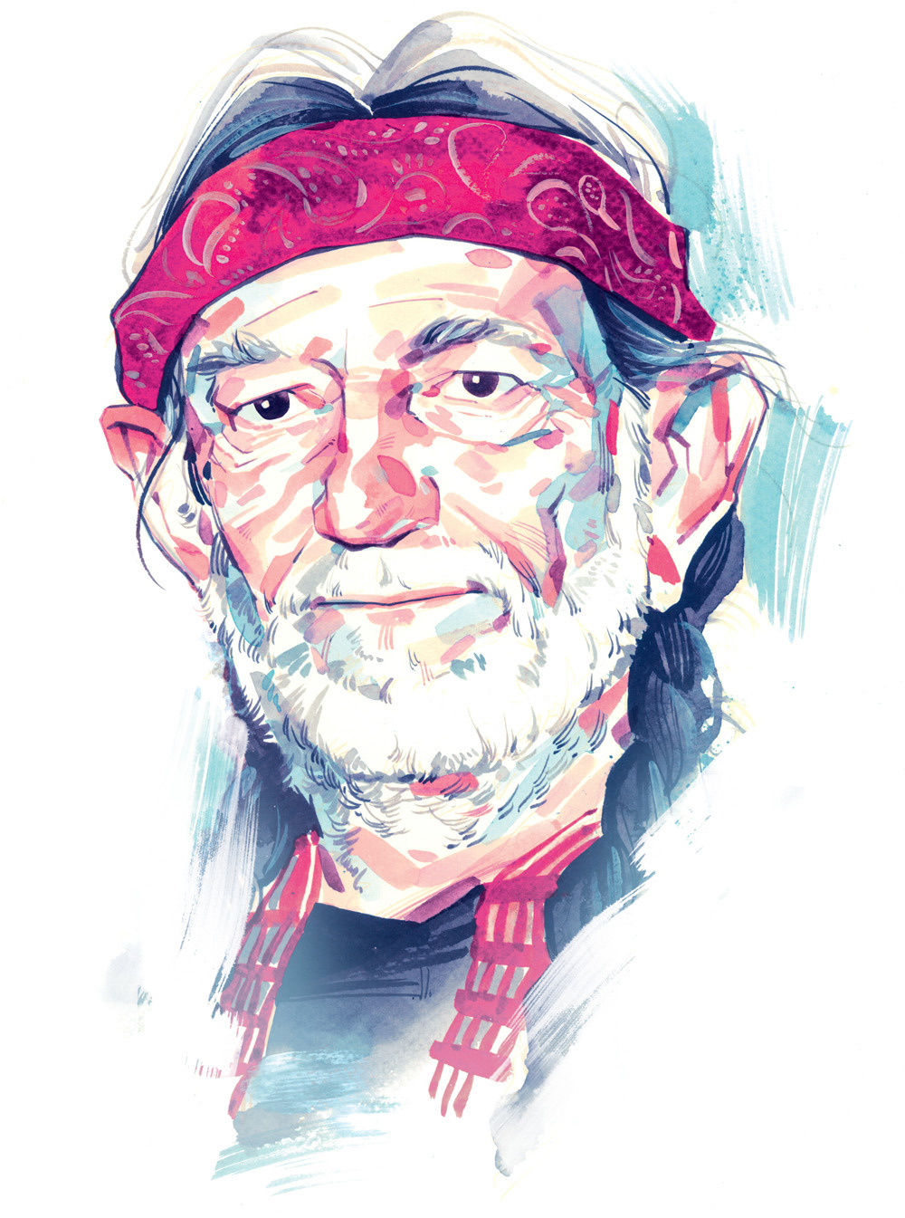 "nparts:  With Heroes, Willie Nelson is still a rebel rebel""We had a couple of pots over there at the Bulldog and then at The Grey Area and then hit two or three good spots after that,"" Nelson says, adding, ""you probably wouldn't remember it,"" when asked what a night on the town is like in Amsterdam with him and Snoop Dogg. However, Nelson takes his advocacy seriously and is not only the president of the 26-year-old Farm Aid, which has raised US$39-million to help the American family farmer, but is outspoken on everything from the war in Afghanistan to ending the marijuana laws that have imprisoned about 20 million Americans since 1965.""Most people who know anything at all know that marijuana is a good medicine for stress and a nice recreational drug for responsible adults and it should not be criminalized,"" he says. ""If we legalize it and bring our folks home from around the world fighting wars over oil, we'd all be a lot better off."" (Illustration by Kagan McLeod/National Post)"