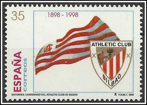 Centanario del Athletic Club de Bilbao - Spain 1998 The Football Stamps of Spain