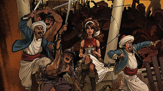 Have you read this beautiful comic, Delilah Dirk and the Turkish Lieutenant, by Tony Cliff?  It's online and it's FREEEEE