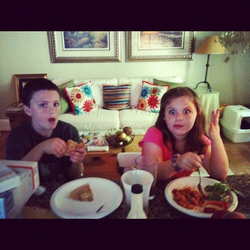 These two are my life. Haha. They are both eating vegan gluten free food I prepare once a week. Eeehhh! Healthy generation! #nanny #healthy #vegan #glutenfree (Taken with instagram)