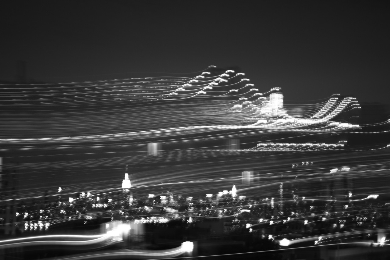 time lapse of Williamsburg bridge and midtown skyline. -np