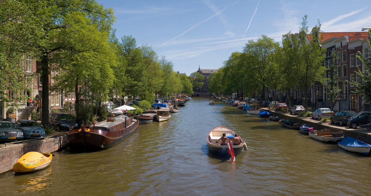 Amsterdam's canals are man-made — the result of a large-scale public works project. (Image via Wikimedia Commons)