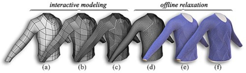 3D Modeling Stitch Mesh: The Future of Fabric and Fashion? Cem Yuksel and his colleagues at Cornell have developed a way of producing Stitch Meshes for 3D Modeling Knitted Clothing with Yarn-level Detail. The top row of images is photographs of actual fabric while the bottom is the 3D modeled fabric.. An amazing level of detail that would look phenomenal if it were to be 3D printed in some kind of flexible, elastic like material….