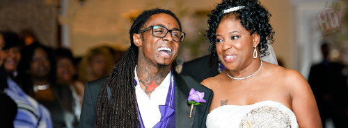 ymcmbhq:  Lil Wayne with his mother Cita at her wedding - http://www.lilwaynehq.com