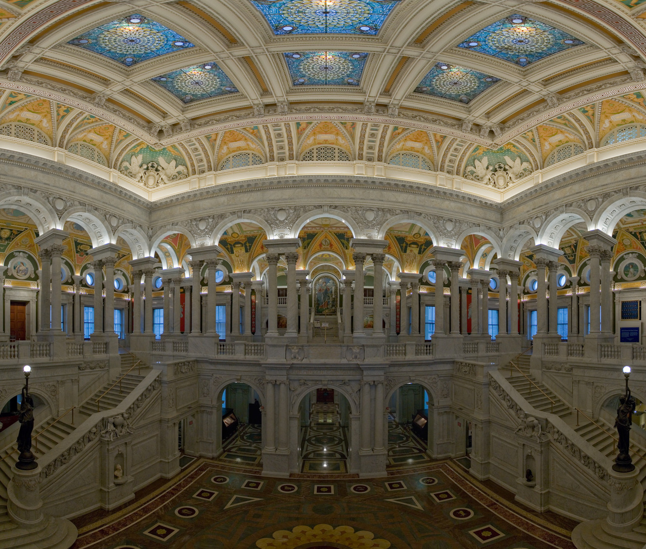 The U.S. Library of Congress tis he largest library in the world by shelf space and number of books. (Photo via Wikimedia Commons)