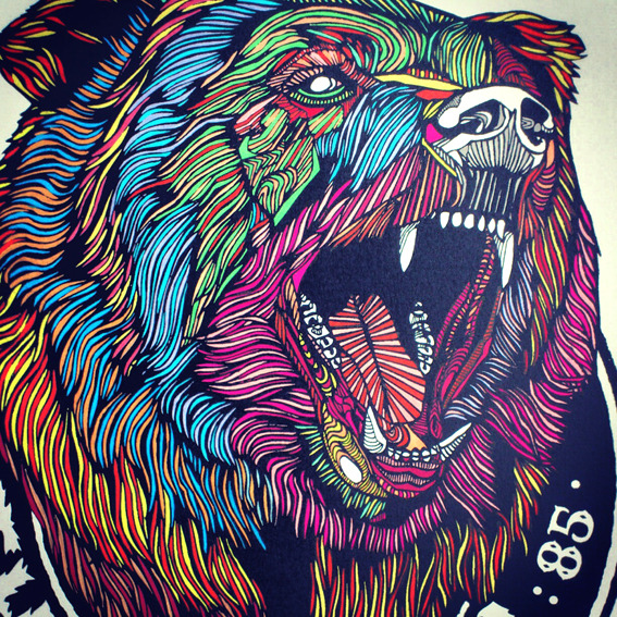 lukedixonart:  THEBEARHUG.COM - £30 + P&P // 3/30 // 'BEAR NO.2'  SCREENPRINT…