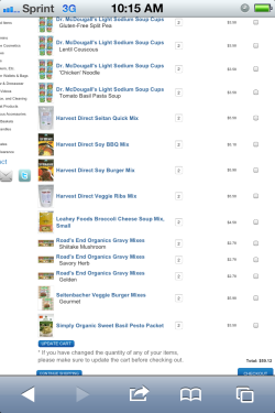 Super excited to buy all of this from veganstore.com!  Well, when I have the money that is.  So I have to wait a couple of weeks lol.