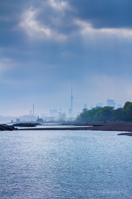 Toronto view from Beaches by peterpesta on Flickr.