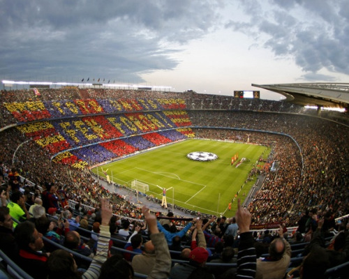 Watching a game at the FC Barcelona Stadium should be on everyone's bucket list! (via)