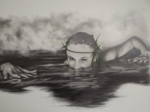 My friend Alice drew me as a Water Nymph. How cool is that?