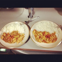 365 Days of Food - Day 130 #rice #food #chicken #meditaranean #cantspell #LOL #nom  (Taken with instagram)