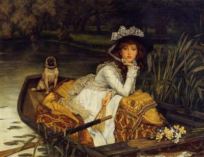 "bukarin:  ""Lady on a boat"" by James Tissot"