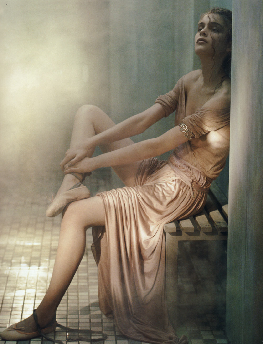 "Kim Noorda in ""The Ancients"" by Laurie Bartley for Vogue Uk, May 2005"