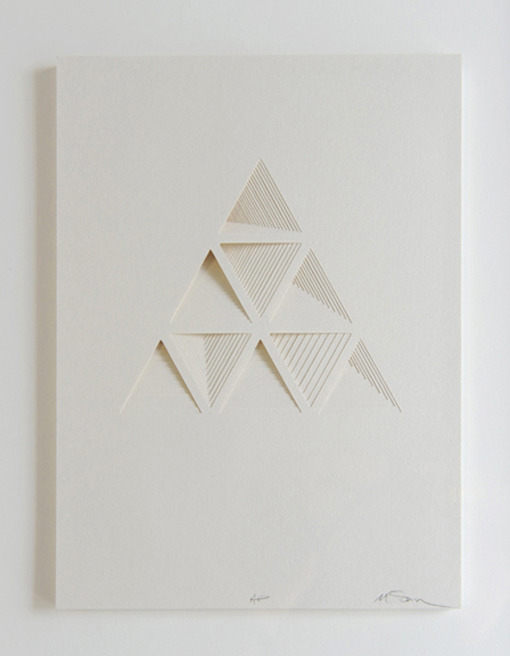 crematorie:  Ghostly Process Series: Triangels Extruded,  paper, 2010 by Matt Shlian