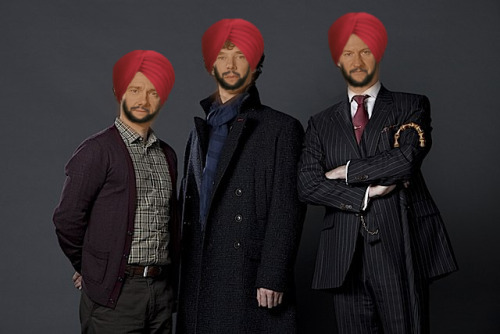 I should be doing my revision… Welcome to India, from Sherlock, Mycroft and Jawn. Not that I'm stereotypical or anything.