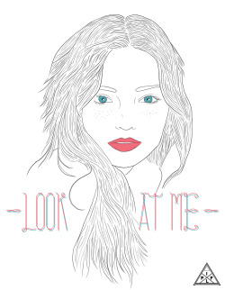 Drawing/Photoshop - Look At Me -