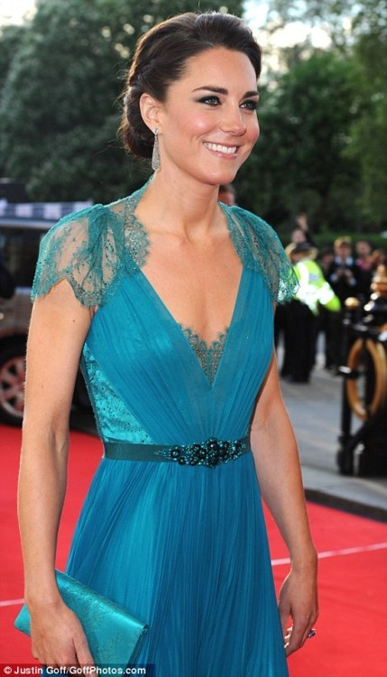 Kate Middleton, Jenny Packham, teal, fashion