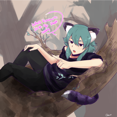 Kariya would make a terrible Cheshire cat. I imagine Kariya being really lazy when he's not playing sakka, he just lays all day and sleeps in the most imporrible places. Stopped working on it cuz I didn't like it
