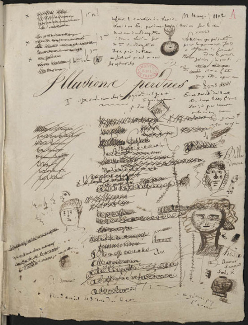 Honoré de Balzac, manuscript page Illusions perdues, 1837-1843