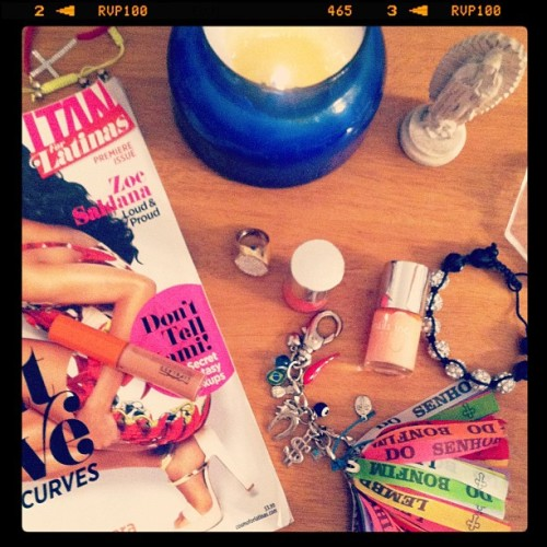 Bit and Pieces at my place #fashion #nails #color #style #accesories (Taken with instagram)