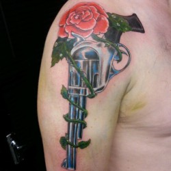 G'n'R tribute #gun #rose #gnr #tattoo #ink #colour #color #arm  (Taken with instagram)