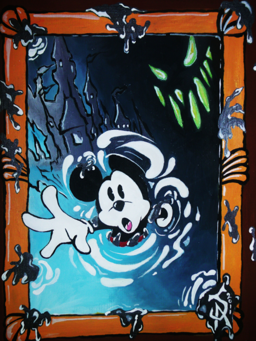 j-artwork:  Epic mickey pinted by Jorge