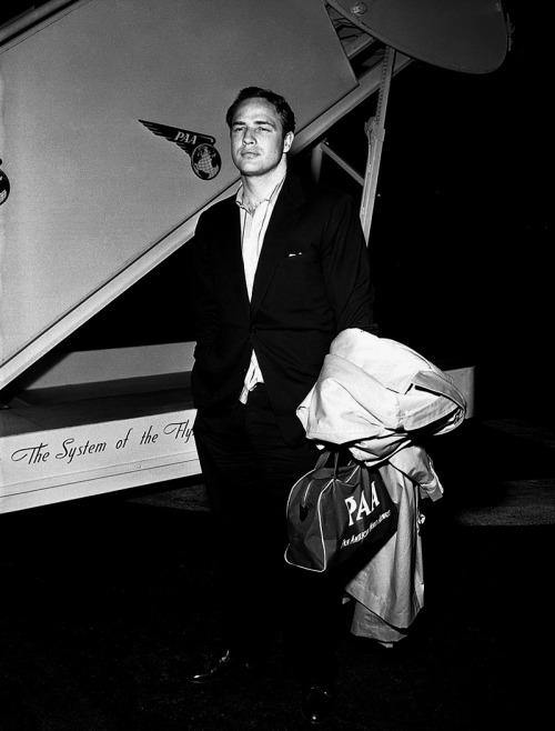 barelysarcasm:  marlonbrando:  Marlon Brando returning from Japan, where he did a 3 month shoot for the film Sayonara, 1957.  It's good to be back, but it was great to be gone.